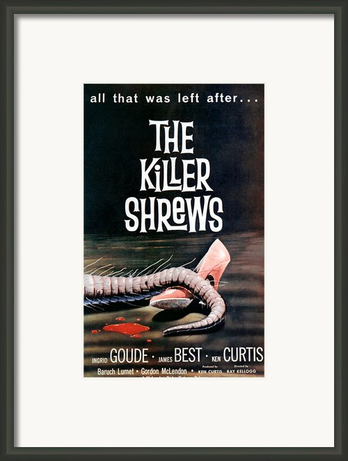 Killer Shrews, The, 1959 Framed Print By Everett