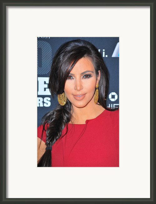 Kim Kardashian At Arrivals For 2011 Framed Print By Everett
