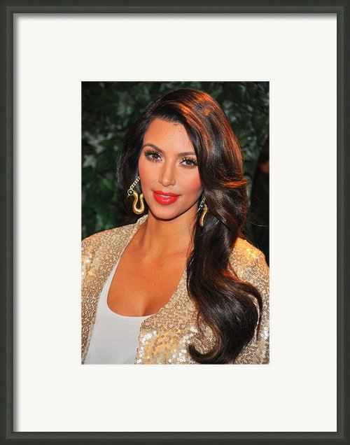 Kim Kardashian At Arrivals For Qvc Red Framed Print By Everett