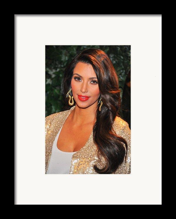 Kim Kardashian At Arrivals For Qvc Red Framed Print By Everett