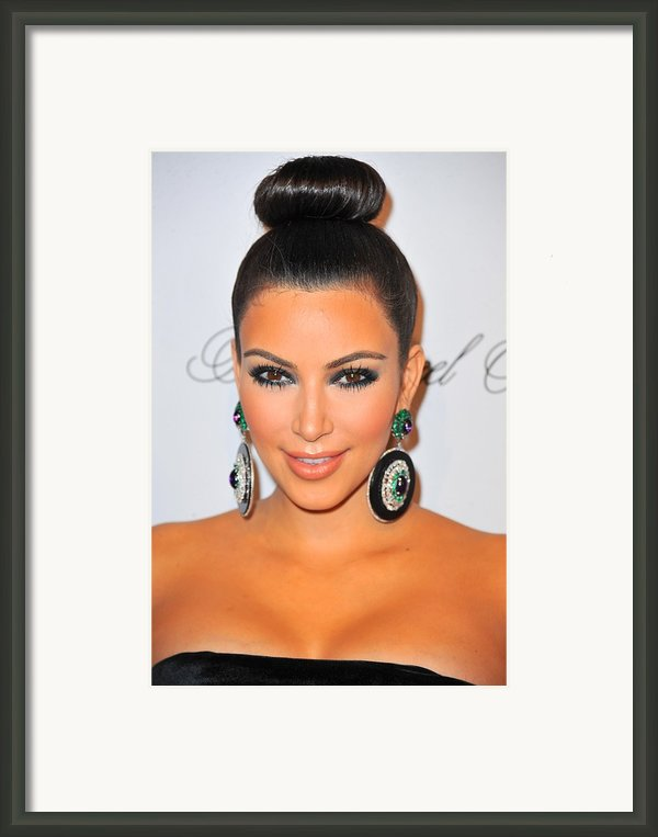 Kim Kardashian At Arrivals For The Framed Print By Everett