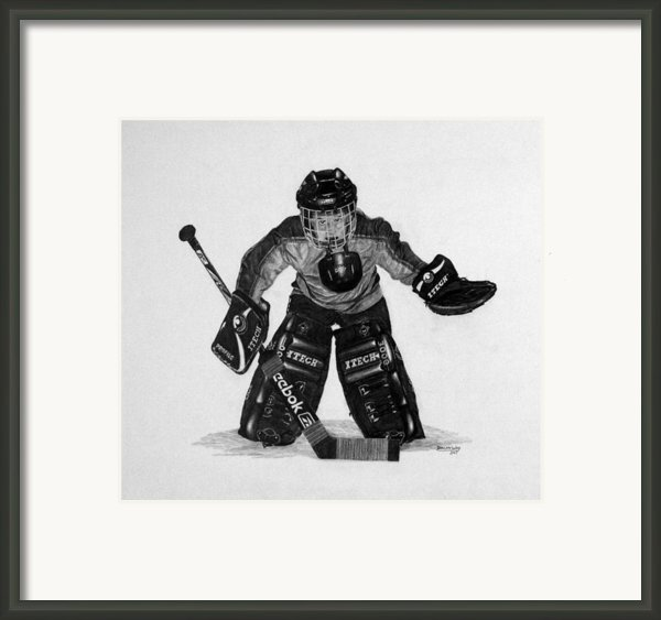 Kindergoalie Framed Print By Duncan  Way