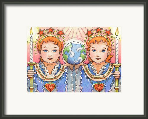 King And Queen Of A Future World Framed Print By Amy S Turner