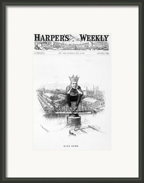 King Debs. Caricature Of Eugene Debs Framed Print By Everett