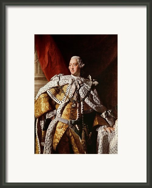 King George Iii Framed Print By Allan Ramsay