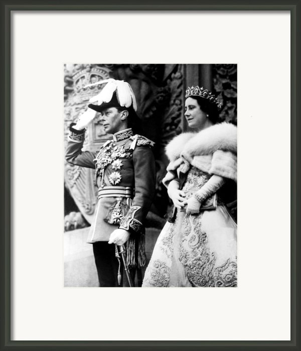 King George Vi, Queen Elizabeth Framed Print By Everett