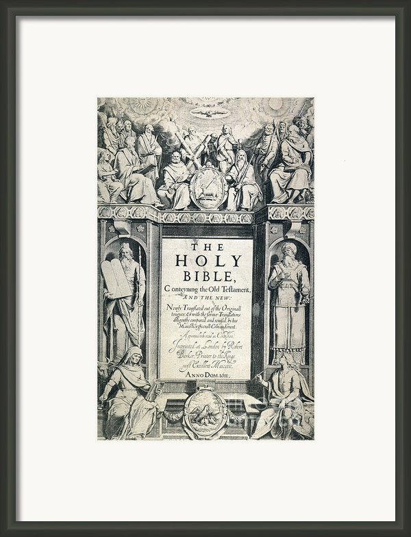 King James I Bible, 1611 Framed Print By Granger