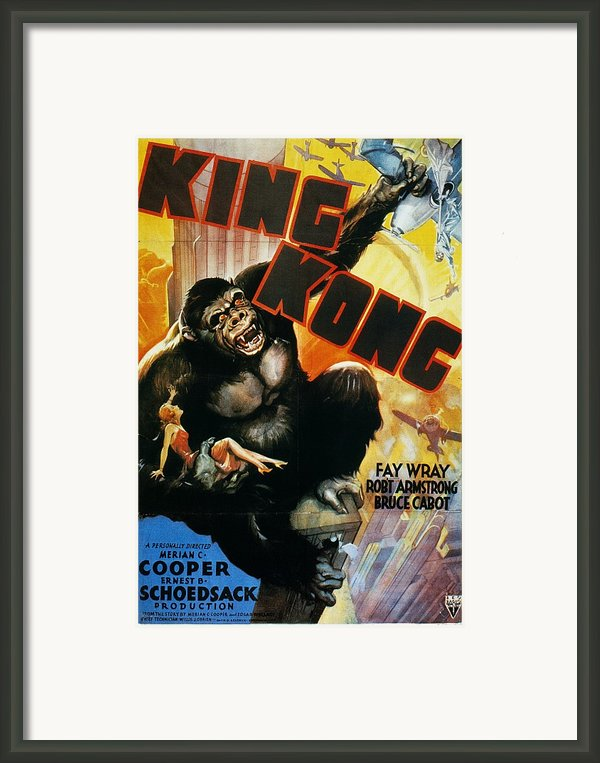King Kong Poster, 1933 Framed Print By Granger