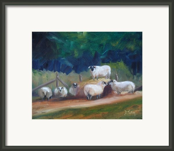 King Of Green Hill Farm Framed Print By Donna Tuten