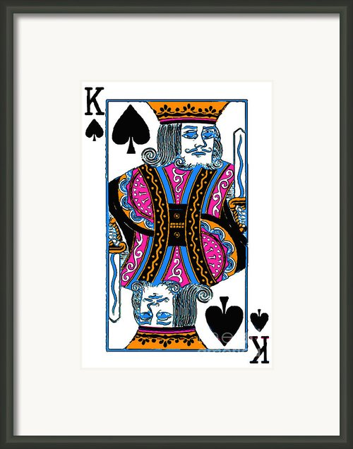 King Of Spades - V3 Framed Print By Wingsdomain Art And Photography