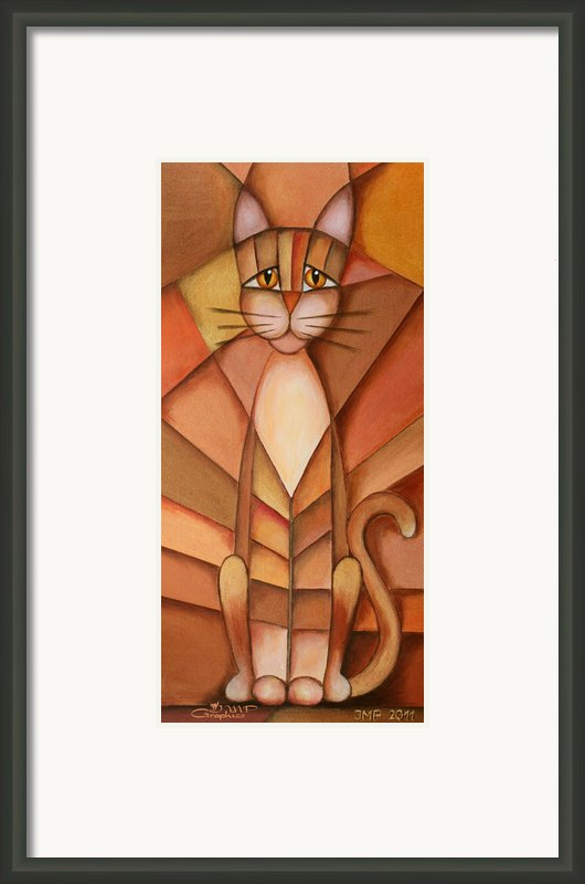 King Of The Cats Framed Print By Jutta Maria Pusl