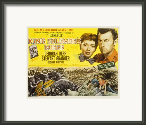 King Solomons Mines, Deborah Kerr Framed Print By Everett