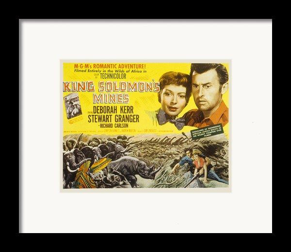 King Solomons Mines, Deborah Kerr Framed Print By Everett