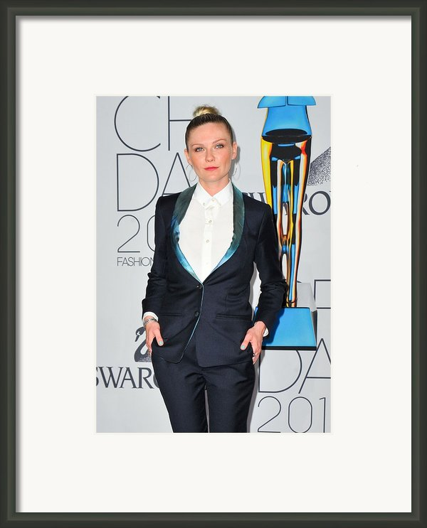 Kirsten Dunst At Arrivals For The 2011 Framed Print By Everett