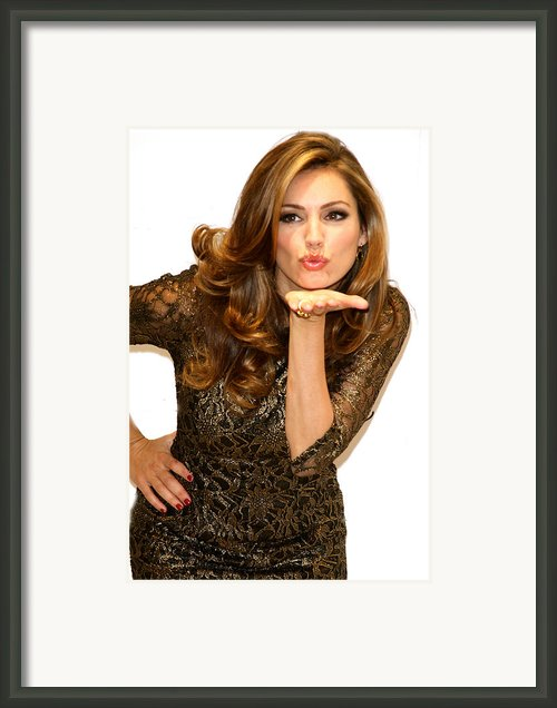 Kiss From Kelly Framed Print By Jez C Self