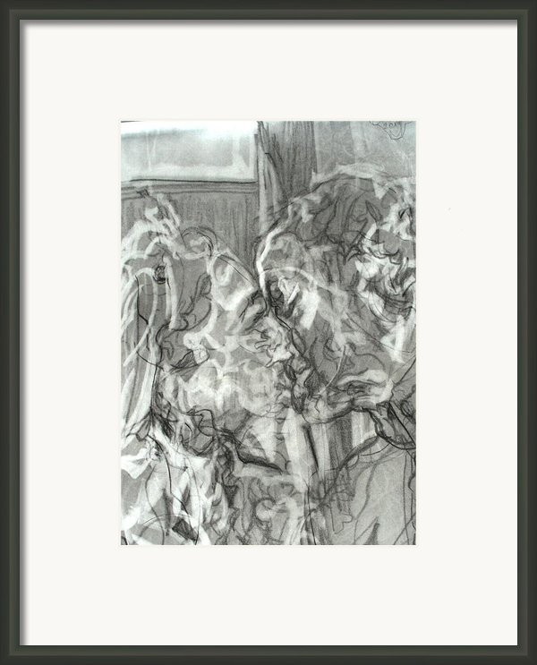 Kiss Framed Print By Godfrey Mcdonnell