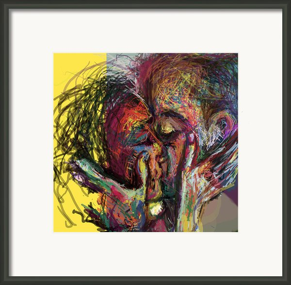 Kiss Me You Big Dick Framed Print By James Thomas