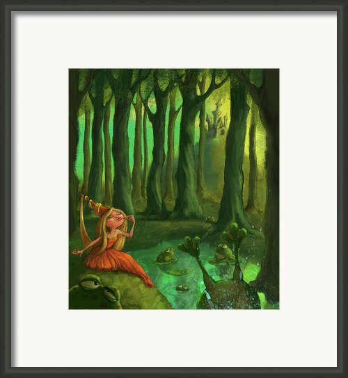 Kissing Frogs Framed Print By Andy Catling