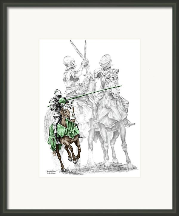 Knight Time - Renaissance Medieval Print Color Tinted Framed Print By Kelli Swan