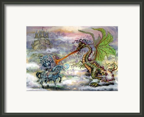 Knights N Dragons Framed Print By Kevin Middleton