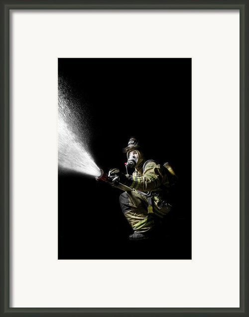 Knock Down Framed Print By Drew Castelhano