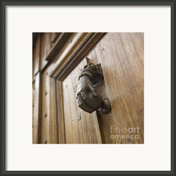 Knocker Framed Print By Bernard Jaubert