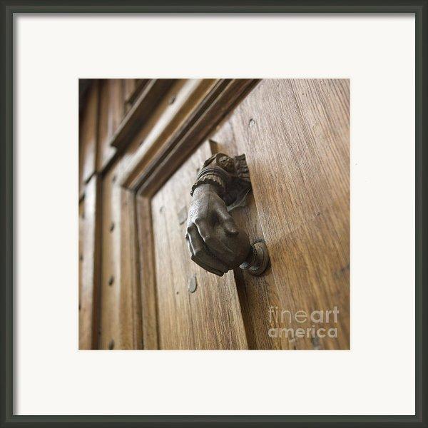 Knocker Framed Print By Bernard Jaubert