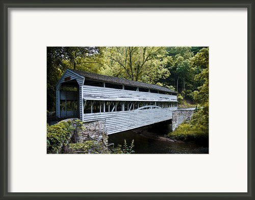 Knox Covered Bridge - Valley Forge Framed Print By Bill Cannon