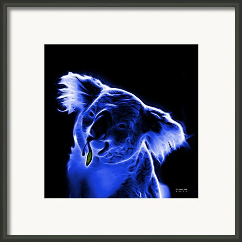 Koala Pop Art - Blue Framed Print By James Ahn