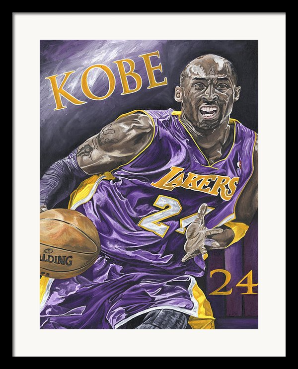 Kobe Bryant Framed Print By David Courson