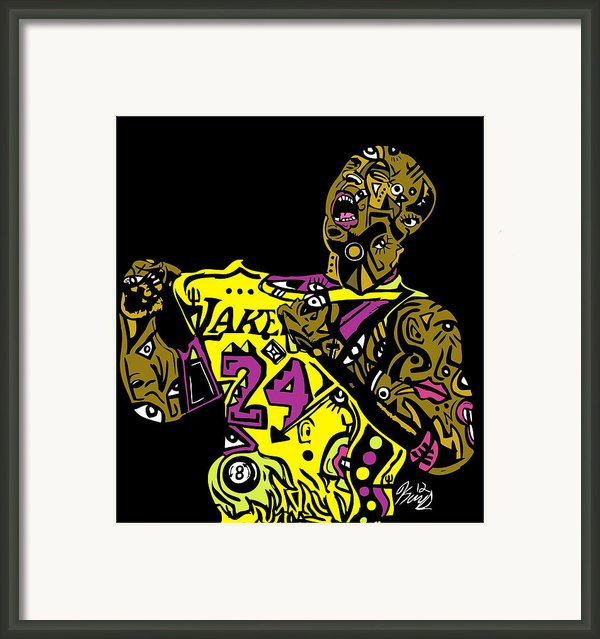 Kobe Bryant Full Color Framed Print By Kamoni Khem