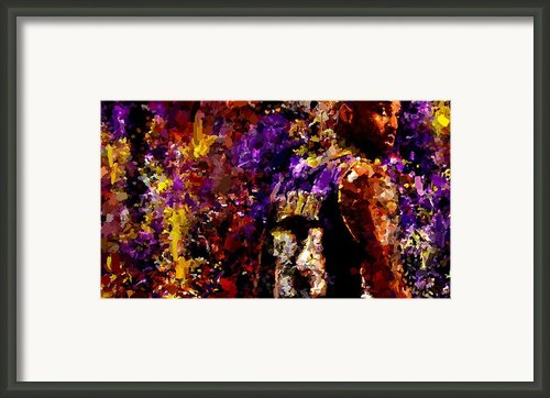Kobe Bryant Looking Back Signed Prints Available At Laartwork.com Coupon Code Kodak Framed Print By Leon Jimenez
