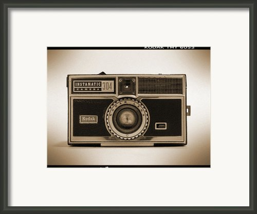 Kodak Instamatic Camera Framed Print By Mike Mcglothlen