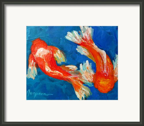 Koi Fish Framed Print By Patricia Awapara