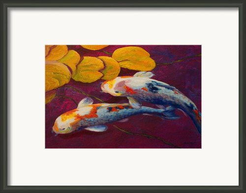 Koi Pond Ii Framed Print By Marion Rose
