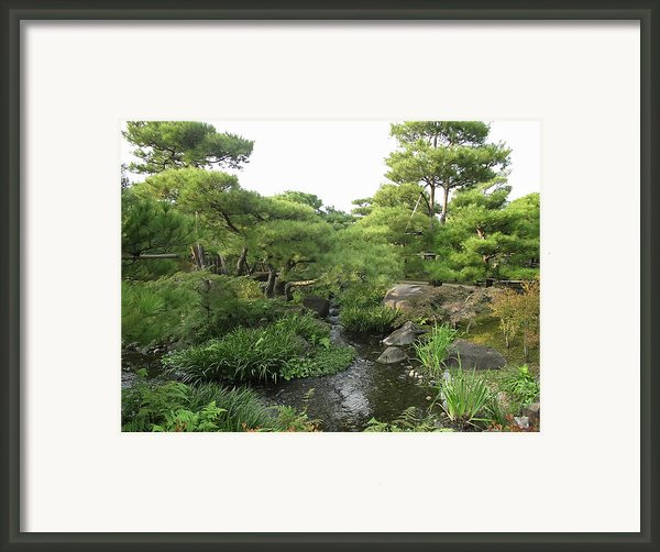 Kokoen Samurai Gardens - Himeji City Japan Framed Print By Daniel Hagerman