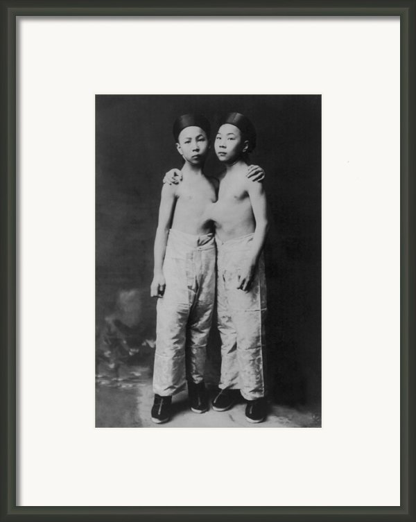 Korean Siamese Twins Standing Framed Print By Everett
