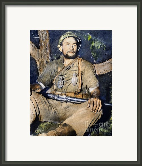 Korean War: G.i., 1950 Framed Print By Granger