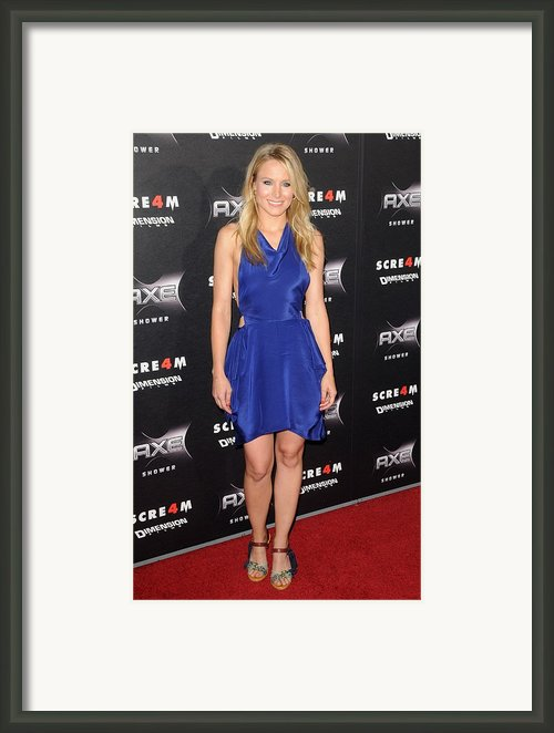 Kristen Bell Wearing A Vanessa Bruno Framed Print By Everett