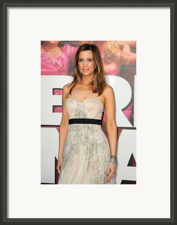 Kristen Wiig At Arrivals Framed Print By Everett