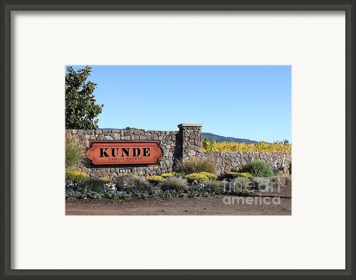 Kunde Family Estate Winery - Sonoma California - 5d19316 Framed Print By Wingsdomain Art And Photography