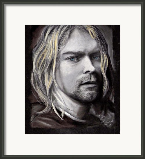 Kurt Cobain Framed Print By Dennis Jones
