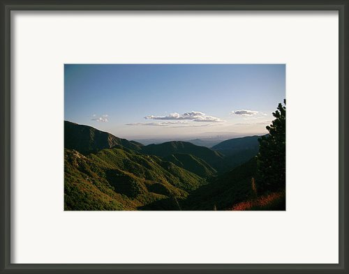 L A View  Framed Print By Gilbert Artiaga