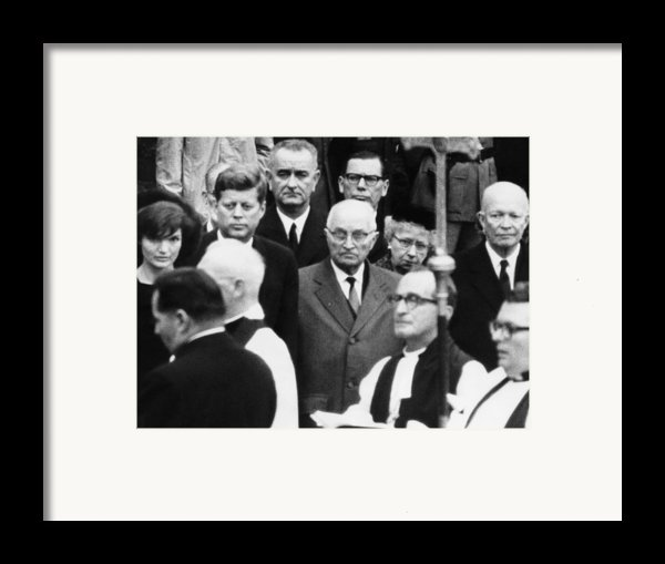 L-r, Facing Camera First Lady Framed Print By Everett