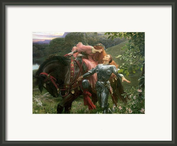 La Belle Dame Sans Merci Framed Print By Sir Frank Dicksee