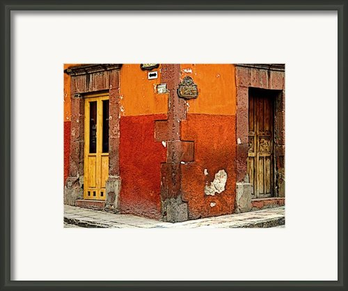 La Esquina 2 Framed Print By Olden Mexico