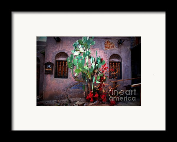 La Hacienda In Old Tuscon Az Framed Print By Susanne Van Hulst