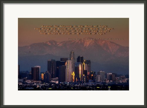 L.a. Khayyam Framed Print By Richard Omura