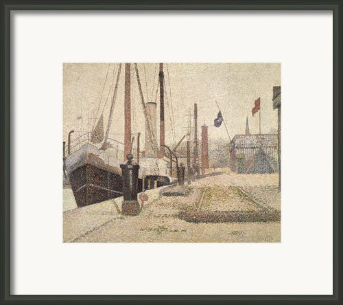 La Maria At Honfleur Framed Print By Georges Pierre Seurat