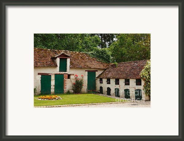 La Pillebourdiere Old Farm Outbuildings In The Loire Valley Framed Print By Louise Heusinkveld